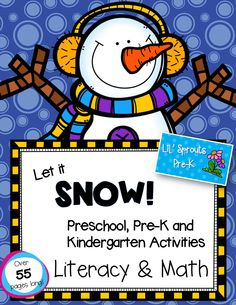 Winter Thematic Unit for Pre-K, PreK,  Kindergarten and Preschool.  Lots of literacy and math activities!
