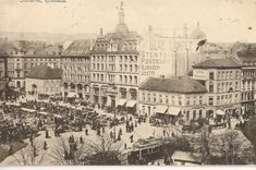 Egertorget, Old Oslo,Norway. Oslo was formerly known as Christiana, or Kristiana,until when the name was changed. Kingdom Of Sweden, Trondheim, School Photos, Old Postcards, Old Photos, Picture Photo, Paris Skyline, Norway Oslo, The Past