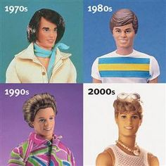 Ken Dolls year by year totally have 80s Ken!