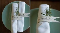 Diy: detail bruiloftsdiner   Pinterested @ http://wedspiration.com.
