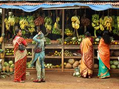 Fruit shopping in Kerala