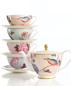 Wedgewood cuckoo collection #teacup #teapot #tea