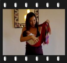 Video Instructions using Baby Ring Slings with Newborn