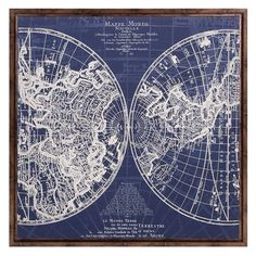 Kmart vintage world map canvas print blue bedroom pinterest find this pin and more on bedrooms aurora vintage world map gumiabroncs Choice Image