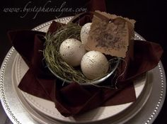 Bird Nest Napkin Folding Tutorial - Easter Tablescape - Under the Table and Dreaming