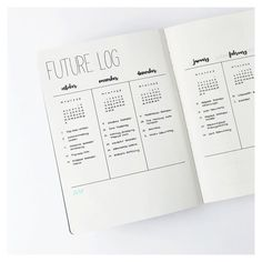 "1,284 Likes, 22 Comments - Marie (@journalspiration) on Instagram: ""I thought it would be a great idea to show you a closer version of the future log since so many of…"""