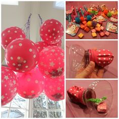 Balloon Pinata!!! So doing this for my daughters Birthday! Works perfect for little 4-5 yr olds!!