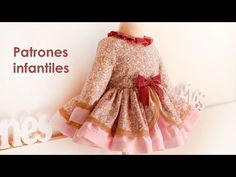Patrón Vestido manga francesa. Patterns of children - YouTube Baby F, My Baby Girl, Little Girl Pageant Dresses, Flower Girl Dresses, Barbie Dress, Baby Girl Fashion, Baby Sewing, Frocks, Cute Dresses
