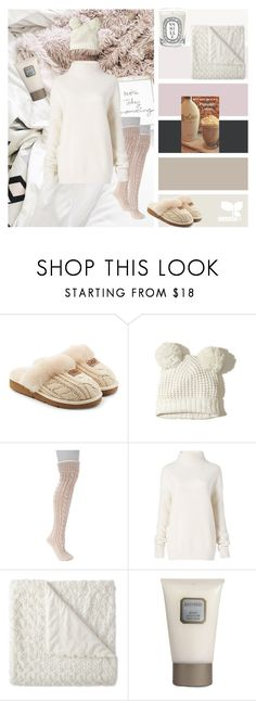 """Cozying Up"" by rita-la-favola ❤ liked on Polyvore featuring UGG, Hollister Co., Muk Luks, Diane Von Furstenberg, Laura Mercier and Diptyque"