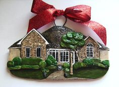 Custom made.....your house as an ornament!  $45.00.  How cool! @Thomas Netzley this might be cool to do with our current house just so we can remember our first house