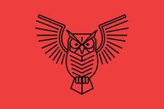 Simple Owl  by olddirtydermot on @creativemarket