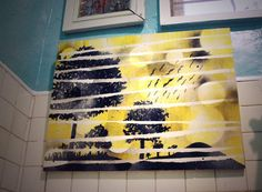 diy art, diy artwork, yellow art, switcheroom