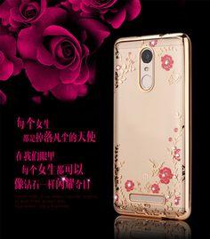 Luxury Flowers plating Diamond Soft TPU Case For Xiaomi RedMi Note 3 Phone Case Secret Garden High Quality Hot RedMi Note 3 Case