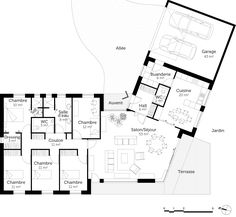 Nice Plan Maison Neuve Plain Pied that you must know, You?re in good company if you?re looking for Plan Maison Neuve Plain Pied The Plan, How To Plan, Bungalow Floor Plans, House Floor Plans, Architecture Drawing Plan, Villa Plan, Contemporary House Plans, New Home Designs, Architect Design