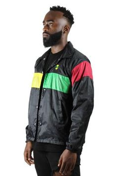 Cross Colours Color Block Stripe Coach Jacket - Black Hip Hop Outfits e9b0c6dbe7c7
