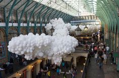 Charles Petillon Heartbeat balloons installation at Covent Garden market London