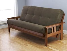 Monterey Futon in Barbados Finish with Suede Olive Mattress *** Click on the image for additional details.
