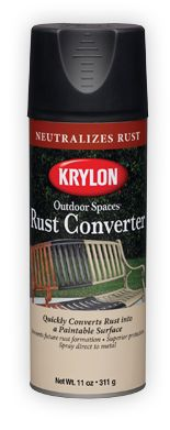 Repaint the vintage metal chair legs - use this first: Outdoor Spaces® Rust Converter