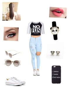 """""""Cute Outfit!🐼"""" by bloodnote ❤ liked on Polyvore featuring Killstar, Converse and Christian Dior"""