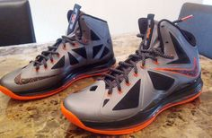 Nike LeBron X 10 Silver Black Orange Mango