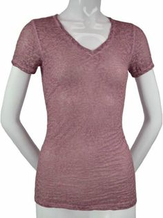 Kavio! Women Burnout Vintage Wash Twisted V Neck Short Sleeve T-shirt - Dusty Rose - X-Large Kavio,http://www.amazon.com/dp/B00BISDGY0/ref=cm_sw_r_pi_dp_X4Rstb1WTBENP2X3