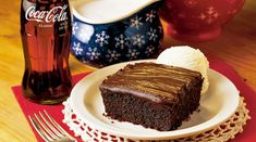 History of Cracker Barrel's Double Chocolate Fudge Coca. A mistake in the recipe turned out to be the secret to the success of the Cracker Barrel Coca-Cola Cake Cookies, Cupcake Cakes, Cupcakes, Bunt Cakes, Chocolate Coca Cola Cake, Chocolate Cakes, Chocolate Lovers, Chocolate Recipes, Just Desserts
