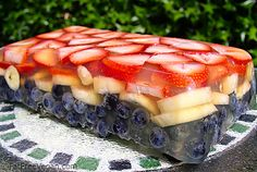 Here's a light, summery dessert that will dress up any picnic table and not blow your diet. I used a white grape/peach 100% juice blend and added agar to cr