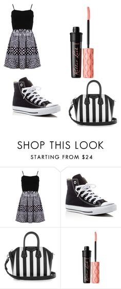 """""""Untitled #8"""" by poppyengelbretson ❤ liked on Polyvore featuring FRACOMINA, Converse, Givenchy and Benefit"""