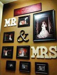 FB post  WEDDING PHOTO WALL DISPLAY...what a great idea!!