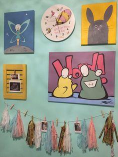 Home decor, children's decor, nursery, kids' room, feature wall, original paintings, acrylic paintings