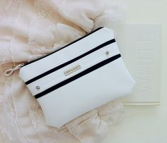 Perfect gift for sister. Clutches – White Clutch / Purse / Handbag in Vegan leather. Black&white – a unique product by ARTelEGO via en.DaWanda