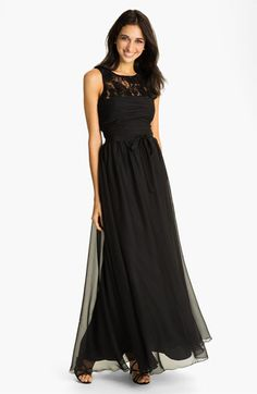 ML Monique Lhuillier Bridesmaids Chiffon Gown (Nordstrom Exclusive) available at #Nordstrom