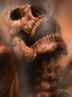 This is the superb skull evil sinister devil ...