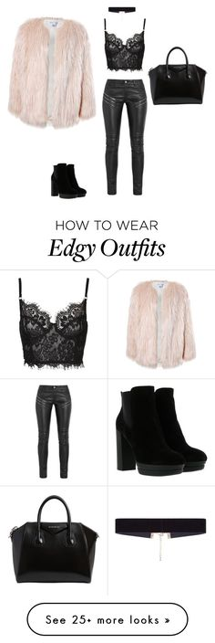 """""""Edgy chic"""" by paigeclement-10 on Polyvore featuring Yves Saint Laurent, Sans Souci, Hogan, 8 Other Reasons and Givenchy"""