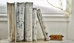 White Painted Books {Prettying Up Ugly Old Books} - Knick of Time