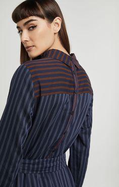 Megaen Stripe Backward Dress