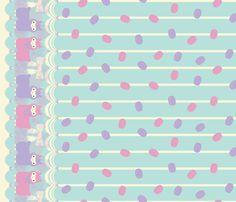 Arpakasso Border Print - Minty fabric by ceevee on Spoonflower - custom fabric