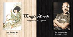 MagicBook - 3D Responsive Flip Book HTML Theme . One page, fluid , one page, fluid…Do you get tired of the web sites being more and more similar? Do you miss the real book