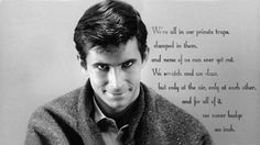 Norman Bates Quotes | Norman bates quote from Psycho. [1366x768] ( i.imgur.com )