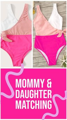 I have fallen in love with this site - Shein. They have tons of mommy and me swimsuits! I have ordered 3 different matching sets and still have not spent as much as 1 swimsuit from a department store. It is crazy awesome! Cute Kids Fashion, Girl Fashion, Fashion Tips, Fashion Hacks, Fashion 2020, 90s Fashion, Dress Fashion, Mommy And Me Swimwear, Cheap Swimsuits