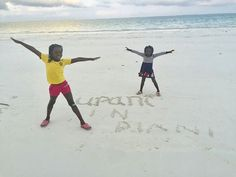 The kids always enjoy having an extra large sand-pit to play who can beat the beach? http://upanidiani.com  http://upanidiani.com/