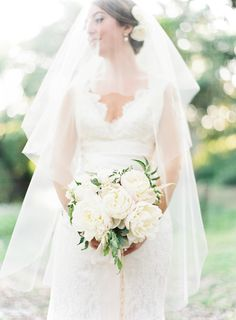 """Recommended bridal bouquet, although perhaps just add 2-3 more peonies, use olive branches in lieu of greens shown for a more """"wine country"""" look"""