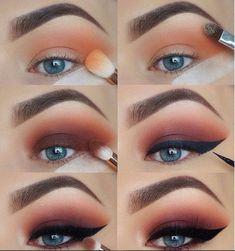 60 Easy Eye Makeup Tutorial For Beginners Step By Step Ideas(Eyebrow& Eyeshadow)., 60 Easy Eye Makeup Tutorial For Beginners Step By Step Ideas(Eyebrow& Eyeshadow). 60 Easy Eye Makeup Tutorial For Beginners Step By Step Ideas(Eyebr. Bronze Eye Makeup, Eye Makeup Steps, Smokey Eye Makeup, Makeup Eyeshadow, Eyeshadow Ideas, Eyeshadow Palette, Eyeshadow Makeup Tutorial, Makeup Monolid, Contour Makeup