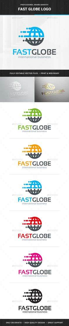 Fast Globe Logo Template — Vector EPS #fast #parcel • Available here → https://graphicriver.net/item/fast-globe-logo-template/13838198?ref=pxcr