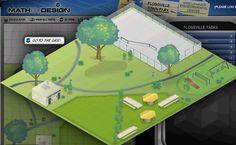 Flossville Park. Design a town park online using geometry and measurement!!  http://mathbydesign.thinkport.org/default.aspx?skipTo=flossville&cb=1389125232296