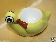 Ancien coquetier en porcelaine Limoges forme canard jaune in Céramiques, verres | eBay