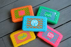 BACK TO SCHOOLPersonalized Chevron Pencil Box/ Art by twosisters76, $7.00