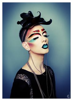 Drag Makeup / Editorial / Avant Garde Mens / Androgynous