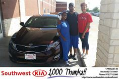 https://flic.kr/p/MPfpjM | #HappyAnniversary to Alan and your 2015 #Kia #Optima from James Adams at Southwest KIA Rockwall! | www.deliverymaxx.com/DealerReviews.aspx?DealerCode=TYEE