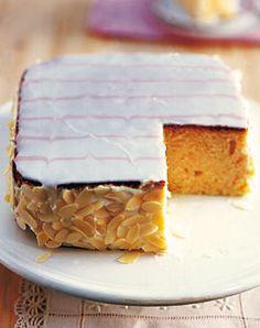 Buttermilchkuchen mit Mascarponecreme.